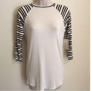 LuLaRoe Women's Randy Shirt White Black New